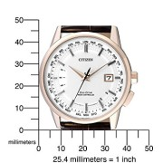 Citizen-Herren-Armbanduhr-RADIO-CONTROLLED-Analog-Quarz-Leder-CB0153-21A-0-0