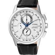 Citizen-Herren-Armbanduhr-RADIO-CONTROLLED-Chronograph-Quarz-Leder-AT8110-11A-0